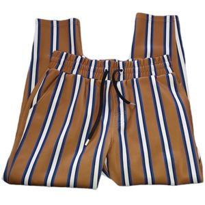 Zara Man Striped Pull On Pant Pockets Drawstring